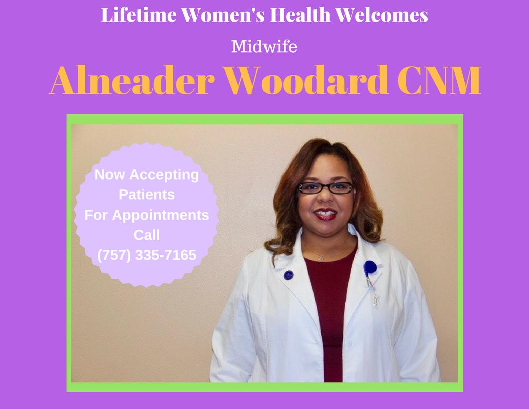 Midwife Alneader Woodard CNM